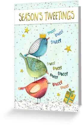 Funny christmas card seasons tweetings greeting cards by natalie funny christmas card seasons tweetings by natalie kinnear m4hsunfo