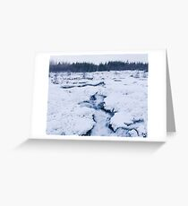 Cold Raw Nature Greeting Card