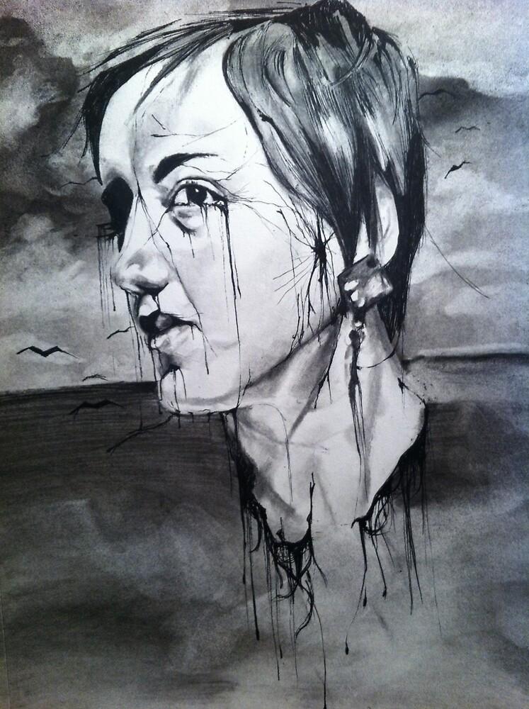 Spooky Portrait  by rharlowart