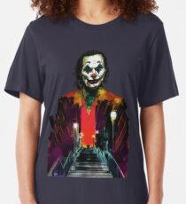 The Joker Joaquin Phoenix 2019 Slim Fit T-Shirt