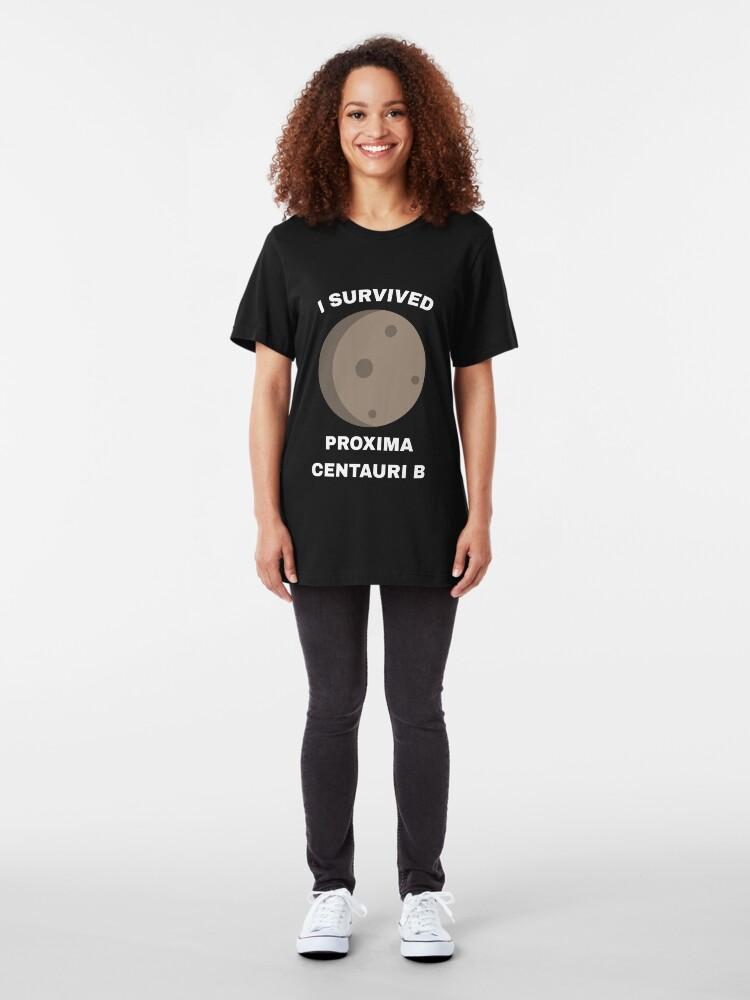 Alternative Ansicht von I Survived Proxima Centauri B - Exoplanet Slim Fit T-Shirt