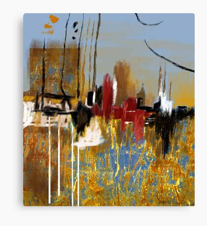 """Far Away City""  Canvas Print"