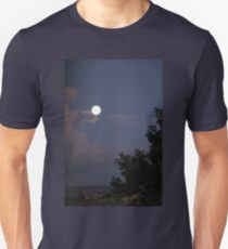Full Moon Over A Northern Town T-Shirt