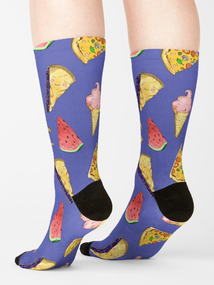 Alternate view of Happy Picnic Triangles Socks