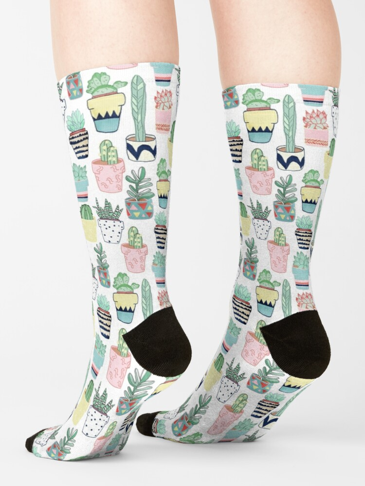 Alternate view of Cute Cacti in Pots Socks