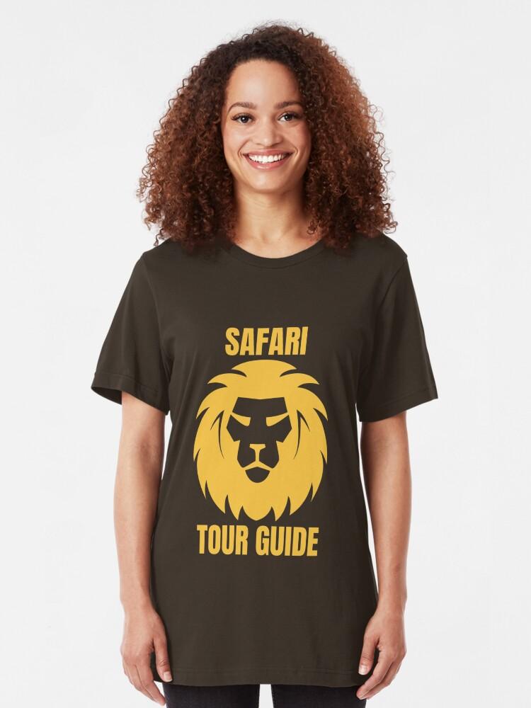Alternative Ansicht von Safari Tour Guide - Cool Safari Guide Slim Fit T-Shirt