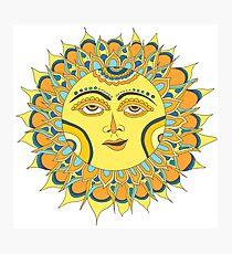 Lemon Yellow Sun Photographic Print