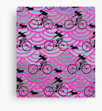 Bicycling Girl  Canvas Print