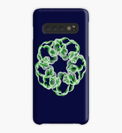 Spirals with Green and White Case/Skin for Samsung Galaxy
