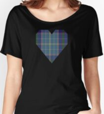 00161 Texas Blue Bonnet Tartan  Women's Relaxed Fit T-Shirt