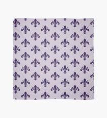 A simple fleur-de-lis pattern in purple Scarf