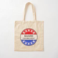 QUARK FOR PRESIDENT Cotton Tote Bag