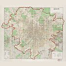 Map of Moscow (1957) by allhistory