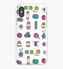 Balls of Yarn - Knitting Watercolor iPhone Case/Skin