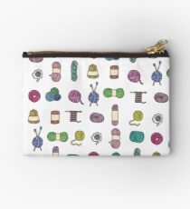 Balls of Yarn - Knitting Watercolor Studio Pouch