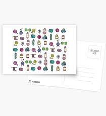 Balls of Yarn - Knitting Watercolor Postcards