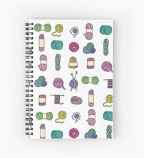 Balls of Yarn - Knitting Watercolor Spiral Notebook