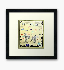 butterflies & bowties Framed Print