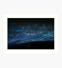 Blue Light trail Art Print