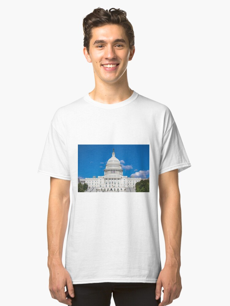 Alternate view of U.S. Capitol in Washington, DC Classic T-Shirt