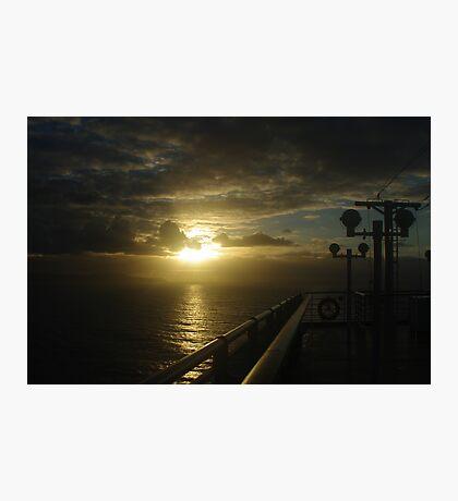 Sunrise approaching Hobart Photographic Print