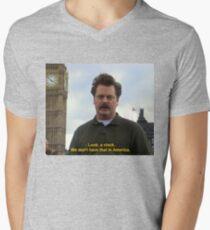 Ron Swanson Hates Europe Men's V-Neck T-Shirt