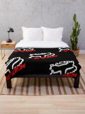 fox racing shox Throw Blanket