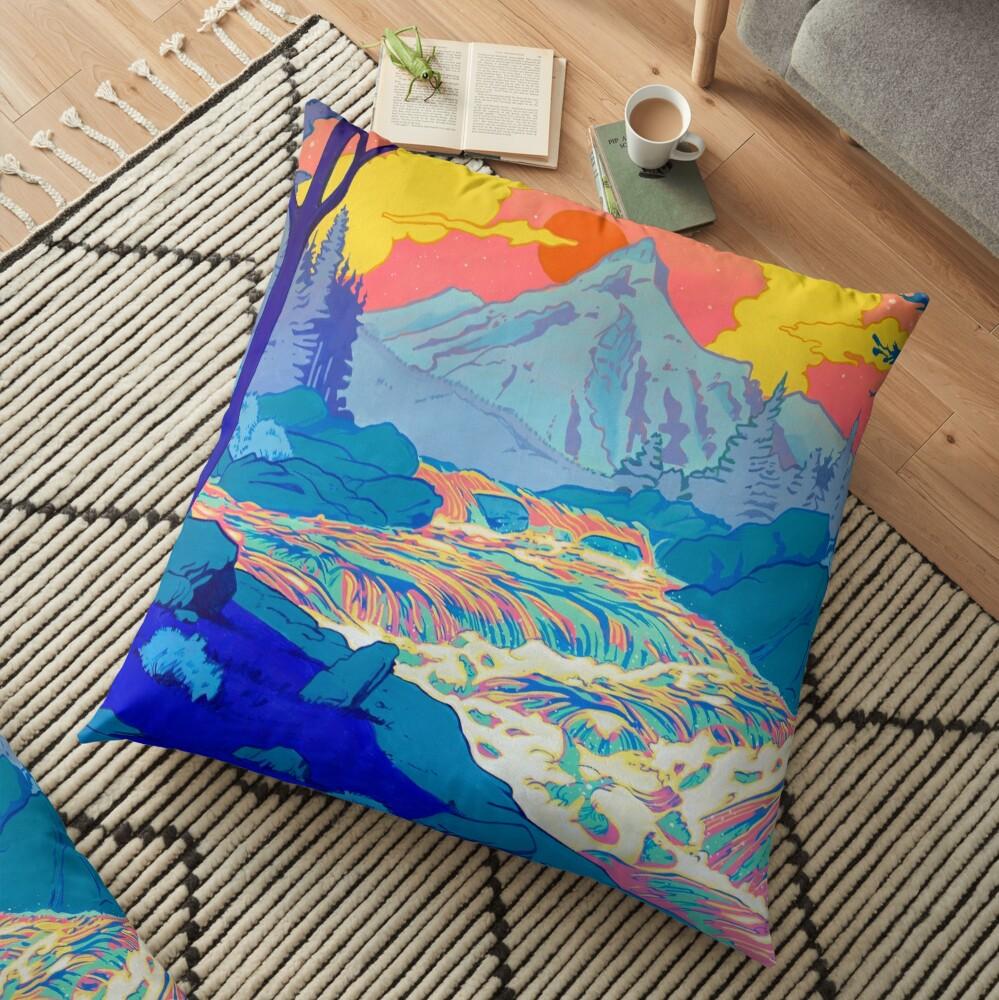 River Floor Pillow