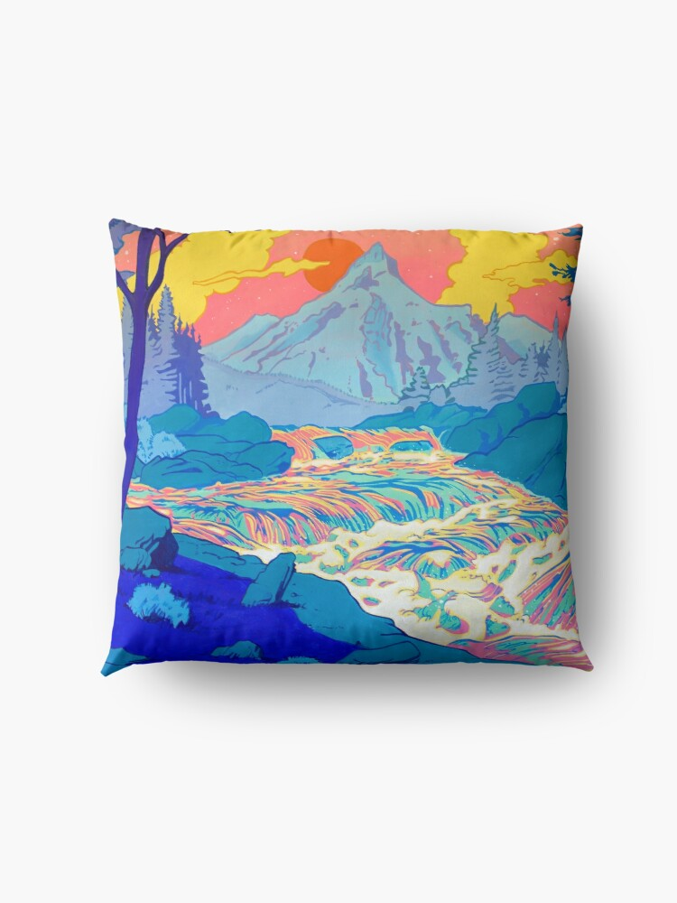 Alternate view of River Floor Pillow