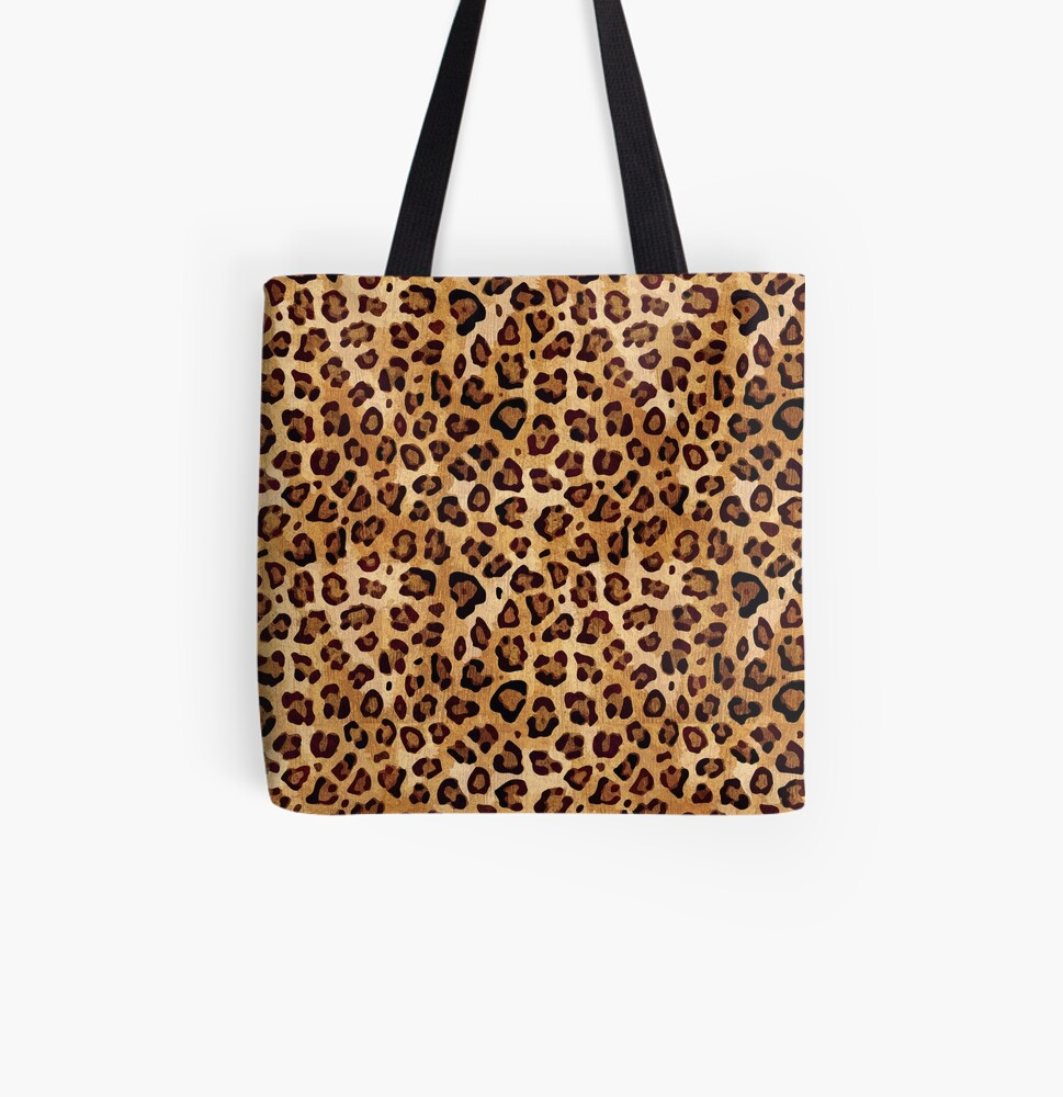 Rustic Texture Leopard Print  All Over Print Tote Bag