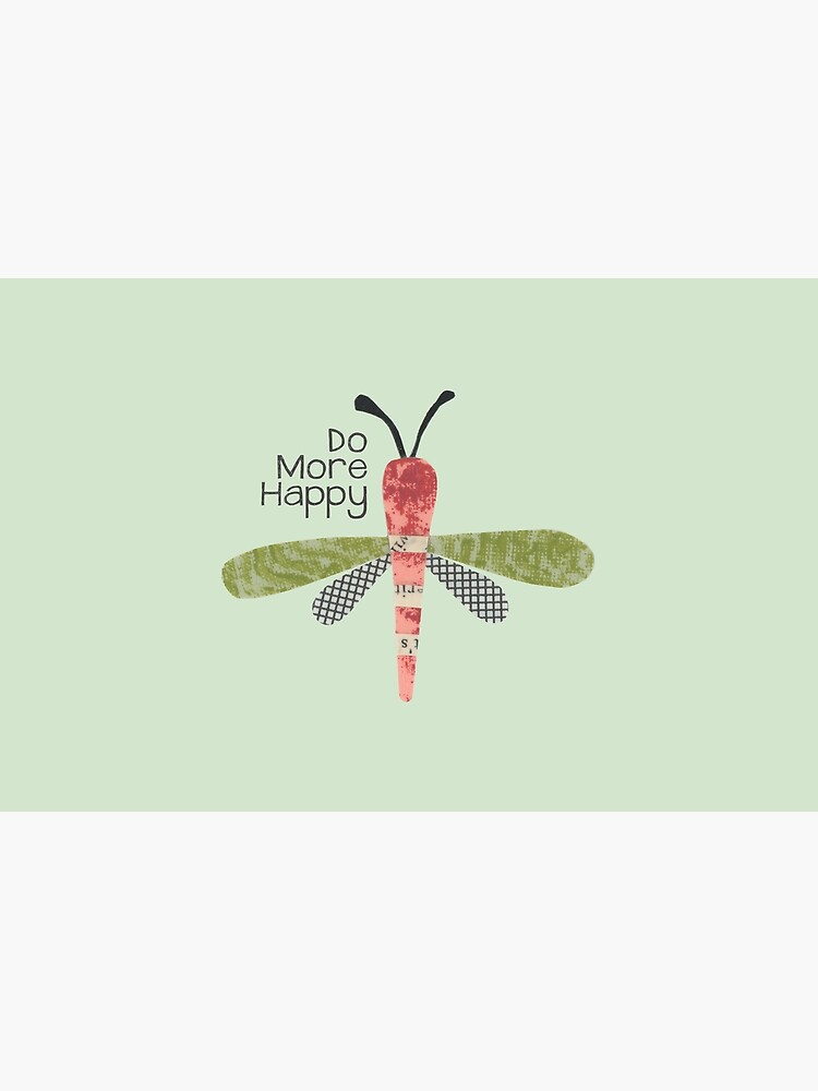 Do More Happy Dragonfly (red) by kimdettmer