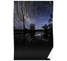 Startrail reflections Poster