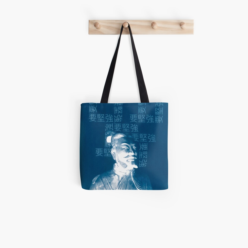 Be Strong Cyanotype Print Tote Bag