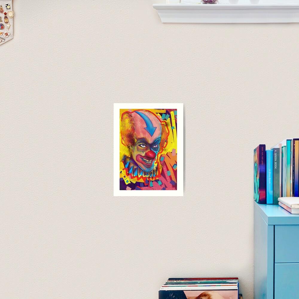 Clown Of Color Art Print