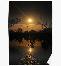 Moonrise reflections Poster