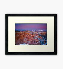 Bryce Canyon Sunset Jan 2011 Framed Print