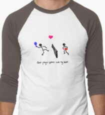Quit Playin' Games With My Heart Men's Baseball ¾ T-Shirt
