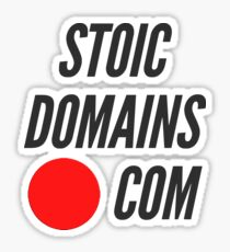 Stoic Domains - Com Glossy Sticker