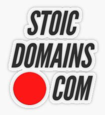 Stoic Domains - Com Transparent Sticker