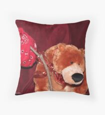 Sad Bear Throw Pillow