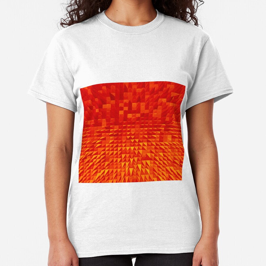 VISION OF THOUGHT ABSTRACT [1] ORANGE [1] Classic T-Shirt