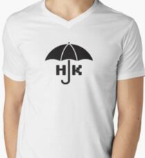 Hong Kong - Black V-Neck T-Shirt