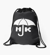 Hong Kong - White Drawstring Bag