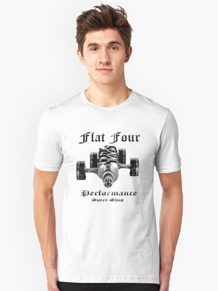 Flat Four Performance light background Unisex T-Shirt Front
