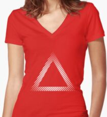 triangle 02 /// Simple Women's Fitted V-Neck T-Shirt