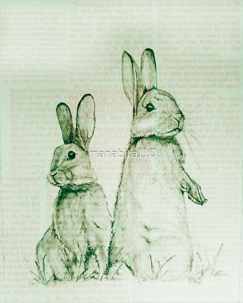 Bunnies by manabita110