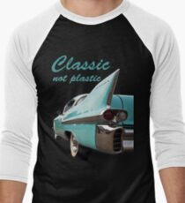 Classic _  not plastic Men's Baseball ¾ T-Shirt