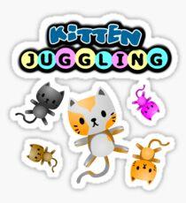 Kitten Juggling - Logo T-Shirt Sticker