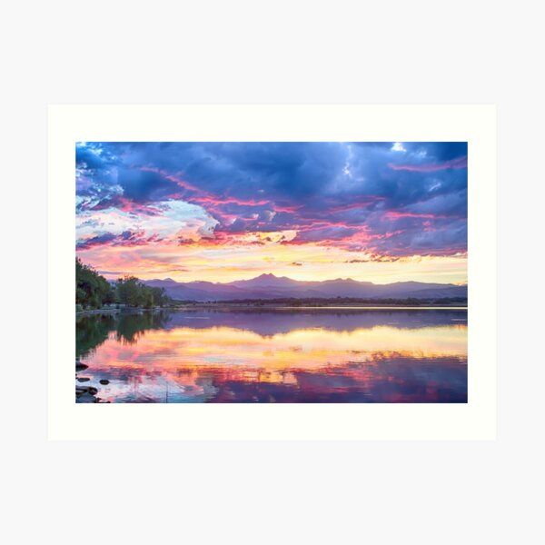 Scenic Colorado Rocky Mountain Sunset View Art Print