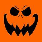 """""""Ripper"""" Jack O'Lantern - Halloween-Kürbis, Orange, Schwarz, All Hallows Eve, Einfach, Zeitgenössisch von CanisPicta"""